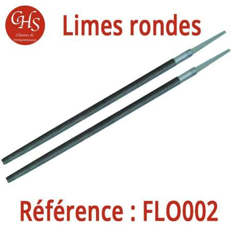 Limes rondes X 2 - diam 4,0 mm